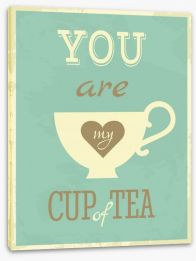My cup of tea Stretched Canvas 48370057