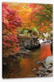 Autumn Maple stream Stretched Canvas 48422660