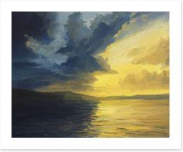 Sunset of light and shadows Art Print 48652729