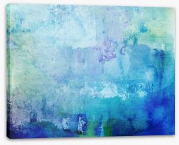 Blue ocean abstract Stretched Canvas 49078163