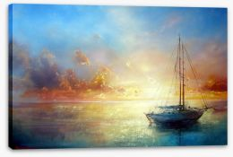 Sail boat seascape Stretched Canvas 49140908