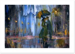 Tryst in the rain Art Print 49480106
