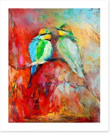 Bee-eater couple Art Print 49522847