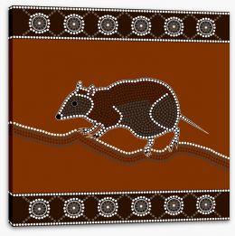 Aboriginal Art Stretched Canvas 49539062