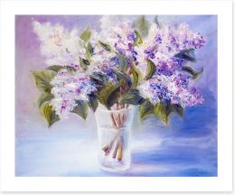 Lilacs in a vase Art Print 49607030
