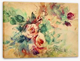 Vintage roses Stretched Canvas 49784524