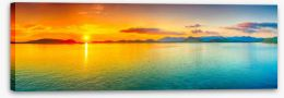 Sunset panorama Stretched Canvas 49840798
