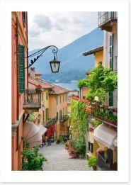 Village street in Lake Como, Italy Art Print 49988155