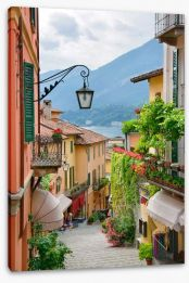 Village street in Lake Como, Italy Stretched Canvas 49988155