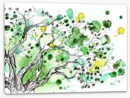 Spring splatter tree Stretched Canvas 49994445