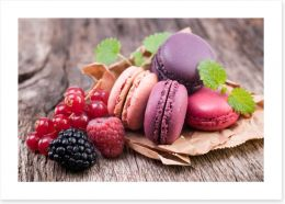 Berry macarons Art Print 50000348