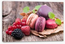 Berry macarons Stretched Canvas 50000348