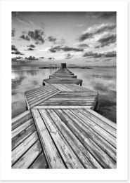 Zig zag dock Art Print 50148896