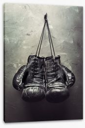Hanging up the gloves Stretched Canvas 50165107