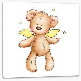Teddy bear angel Stretched Canvas 50323377