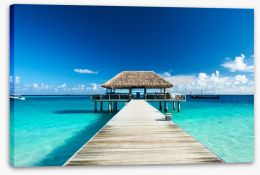 Paradise jetty Stretched Canvas 50372453