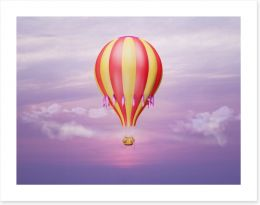 Purple sky balloon