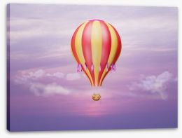 Purple sky balloon Stretched Canvas 50444575