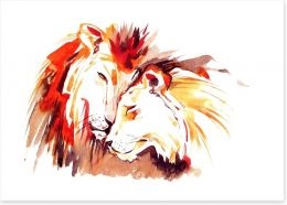Lions of love Art Print 50582703