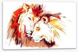 Lions of love Stretched Canvas 50582703