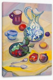 Summer breakfast Stretched Canvas 50808767