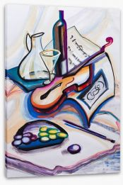 Violin and wine Stretched Canvas 50809631
