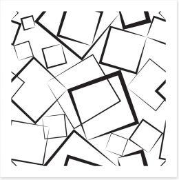 Black squares on white
