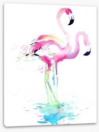 Pink flamingo watercolour Stretched Canvas 50903906