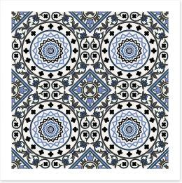 Arabesque in blue