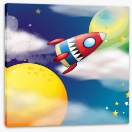 Rocket to the moon Stretched Canvas 51316352