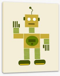 The green android Stretched Canvas 51403362