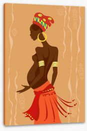 Zulu mother to be Stretched Canvas 51747037