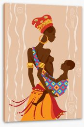 Zulu mother and child Stretched Canvas 51747168