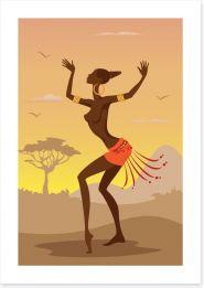 Zulu dance Art Print 51747839