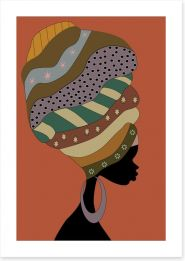 Turban beauty Art Print 51943053