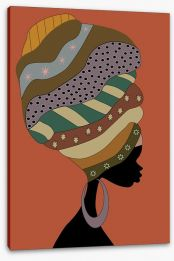 Turban beauty Stretched Canvas 51943053