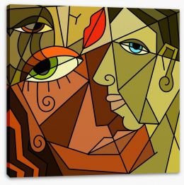 Fantasy of faces Stretched Canvas 51985834