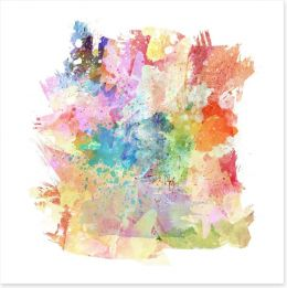 The colours of abstract Art Print 51997449