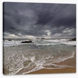 Dark sky beach Stretched Canvas 52088139