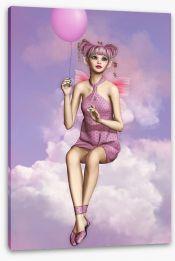 Pixie on a cloud