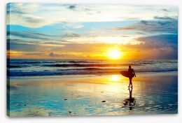 Surfing sunrise Stretched Canvas 52585196