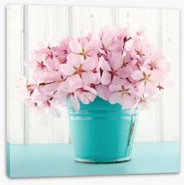 Pink cherry blossom Stretched Canvas 52700788