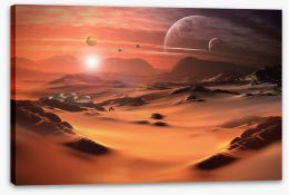 The red planet Stretched Canvas 52774334