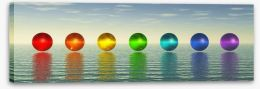 Chakra spheres Stretched Canvas 52808458