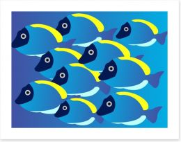 Powder blue tang Art Print 5291542