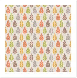 Autumn trees Art Print 53126429