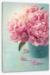 Vintage pink peony Stretched Canvas 53156765