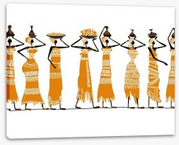 African Art Stretched Canvas 53182871