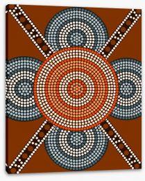 Aboriginal Art Stretched Canvas 53207517