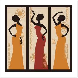 Tribal dance Art Print 53252277